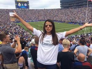 Partido Real Madrid vs Chelsea, fuimos con mis amigas aupairs y unos amigos de mexico que nos emcontramo